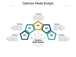 Optimize Media Budget Ppt Powerpoint Presentation Portfolio Smartart Cpb