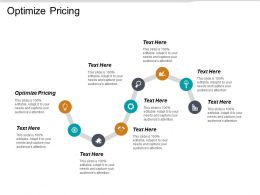 Optimize Pricing Ppt Powerpoint Presentation Gallery Themes Cpb