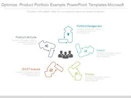 Optimize Product Portfolio Example Powerpoint Templates Microsoft