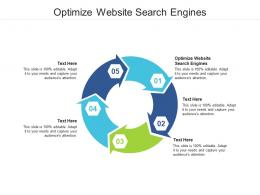 Optimize Website Search Engines Ppt Powerpoint Presentation Summary Slide Cpb