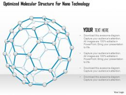 Optimized Molecular Structure For Nano Technology Ppt Slides