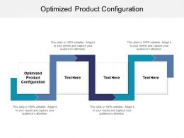 Optimized Product Configuration Ppt Powerpoint Presentation Pictures Example Cpb
