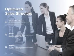 Optimized Sales Structure Ppt Powerpoint Presentation Outline Example Introduction Cpb