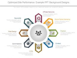 Optimized Site Performance Example Ppt Background Designs