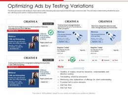 Optimizing Ads By Testing Variations Art Powerpoint Presentation Outfit