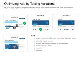 Optimizing Ads By Testing Variations Essential Call Powerpoint Presentation Maker