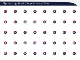 Optimizing Asset Lifecycle Icons Slide Ppt Powerpoint Presentation File Format Ideas