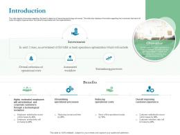 Optimizing Bank Operation Introduction Ppt Powerpoint Presentation Portfolio Demonstration
