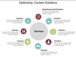 Optimizing Content Solutions Ppt Powerpoint Presentation Inspiration Introduction Cpb