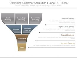 Optimizing Customer Acquisition Funnel Ppt Ideas