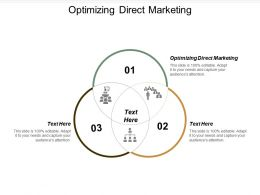 Optimizing Direct Marketing Ppt Powerpoint Presentation Gallery Show Cpb