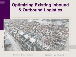 Optimizing Existing Inbound And Outbound Logistics Powerpoint Presentation Slides