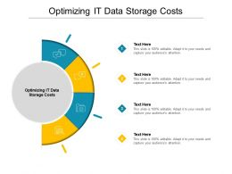 Optimizing It Data Storage Costs Ppt Powerpoint Presentation Inspiration Aids Cpb