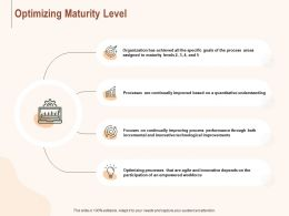 Optimizing Maturity Level Ppt Powerpoint Presentation Summary Outfit