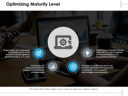 Optimizing Maturity Level Ppt Slides Graphics Pictures