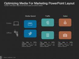 Optimizing Media For Marketing Powerpoint Layout