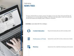 Optimizing News Feed Ppt Powerpoint Presentation Icon Microsoft