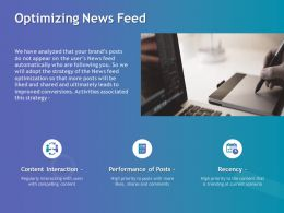 Optimizing News Feed Ppt Powerpoint Presentation Slides Portrait