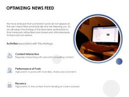 Optimizing News Feed Recency Ppt Powerpoint Presentation Inspiration Professional