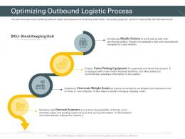 Optimizing Outbound Logistic Process Trucking Company Ppt Template