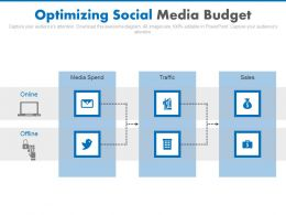 Optimizing Social Media Budget Ppt Slides