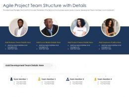 Optimizing Tasks And Agile Project Team Structure With Details Background Ppts Slides