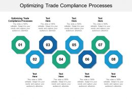 Optimizing Trade Compliance Processes Ppt Powerpoint Presentation Portfolio Example Cpb