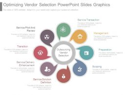 Optimizing Vendor Selection Powerpoint Slides Graphics