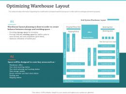 Optimizing Warehouse Layout Implementing Warehouse Management System Ppt Formats