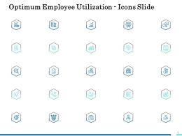 Optimum Employee Utilization Icons Slide Ppt Diagrams