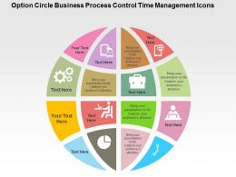Option Circle Business Process Control Time Management Icons Flat Powerpoint Design