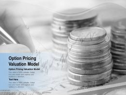 Option Pricing Valuation Model Ppt Powerpoint Presentation Portfolio Background Cpb