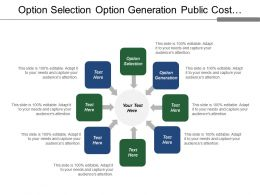 Option Selection Option Generation Public Cost Business Goal