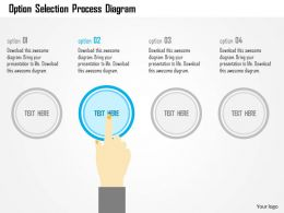 Option Selection Process Diagram Flat Powerpoint Design