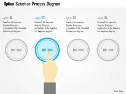 Option Selection Process Diagram Flat Powerpoint Design