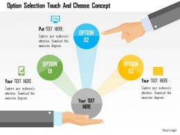 Option Selection Touch And Choose Concept Flat Powerpoint Design