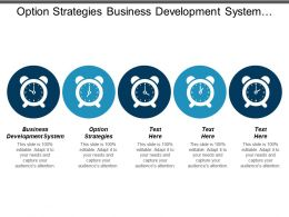 Option Strategies Business Development System Strategic Planning Portfolio Strategy Cpb