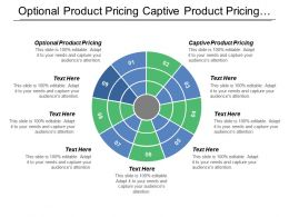 Optional Product Pricing Captive Product Pricing Product Pricing