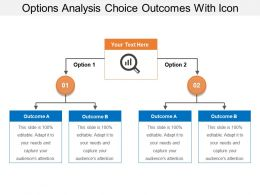Options Analysis Choice Outcomes With Icon