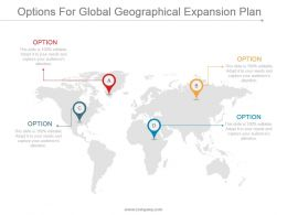Options For Global Geographical Expansion Plan Ppt Slide Examples