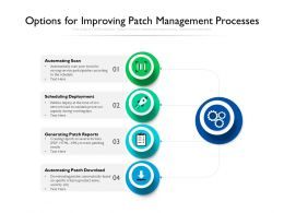 Options For Improving Patch Management Processes