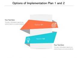 Options Of Implementation Plan 1 And 2