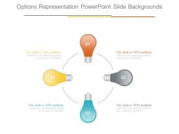 Options Representation Powerpoint Slide Backgrounds
