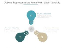 Options Representation Powerpoint Slide Template