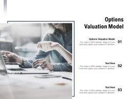 Options Valuation Model Ppt Presentation Visual Aids Background Images Cpb