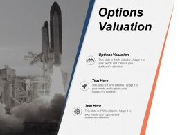 Options Valuation Ppt Powerpoint Presentation Icon Background Image Cpb
