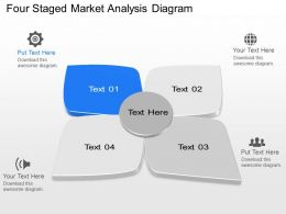 Oq Four Staged Market Analysis Diagram Powerpoint Template Slide