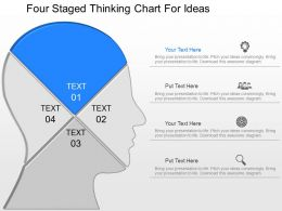oq Four Staged Thinking Chart For Ideas Powerpoint Template