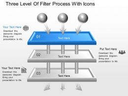 Oq Three Level Of Filter Process With Icons Powerpoint Template