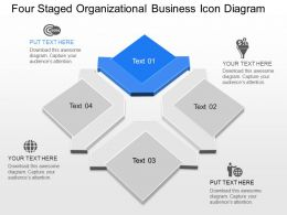 Or Four Staged Organizational Business Icon Diagram Powerpoint Template Slide